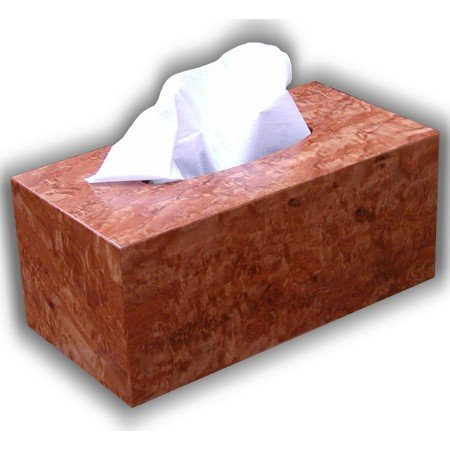 Wooden Tissue Box Cover Select Anigre Burl Veneer Rectangular Regular Size. (Kleenex Opening With (Homemade Peacock Halloween Costume Ideas)