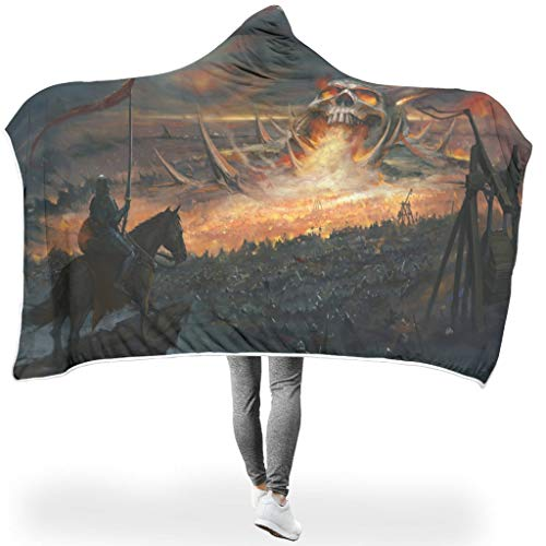 MC83 Bat Blanket Skull Cave Patterned Printed Luxury Comfortable Throws Robe - Night 2 Sizes for Home Decor Use White #6040#