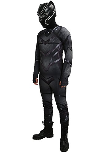 XCOSER Black Panther Costume Zentai for Halloween (Black Panther Costume For Men)