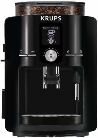KRUPS EA8250 Espresseria Super Automatic Espresso Machine Coffee Maker with Built-in Conical Burr Grinder, 60-Ounce, Black