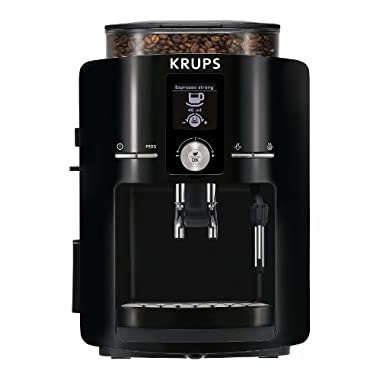 KRUPS EA8250 Espresseria Super Automatic Espresso Machine Coffee Maker with Built-in Conical Burr Grinder, 60-Ounce, Black