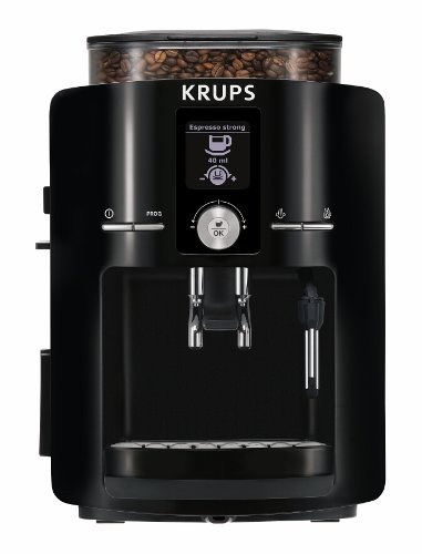 KRUPS EA8250 Fully Auto Espresso Machine, Espresso Maker, Burr Grinder, 60 Ounce, Black (Coffee Automatic Grinder Krups)