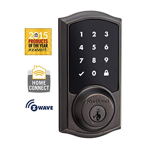 Kwikset 99160-003 Venetian Bronze Smartcode Touchscreen Electronic Deadbolt With ZigBee Technology