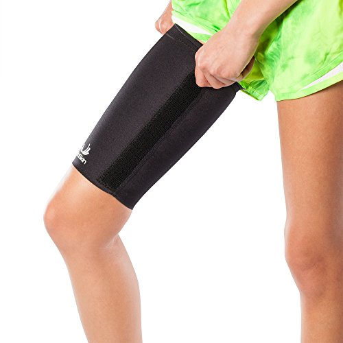 Medical Grade Compression Sleeve with Additional, Targeted Compression Cinch Strap to Relieve Pain from Quad and Hamstring Strains and Injuries - Thigh Skin with Cinch by BioSkin (XLarge) by BioSkin (Image #4)