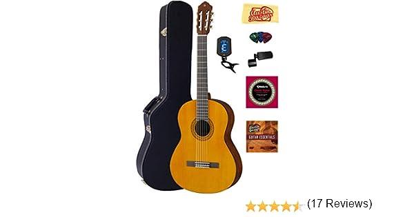 Yamaha C40 Guitarra Acústica con Cuerdas de nailon paquete con ...