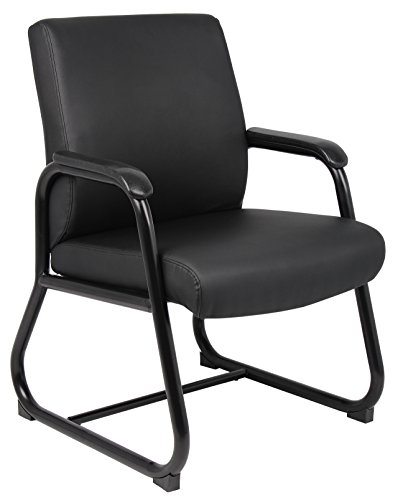 Boss Office Products B709 Heavy Duty Caressoft Guest Chair in Black