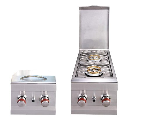SUNSTONE 2CSB-NG Slide-In Double Side Burner Natural Gas Grill