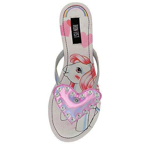 Iron Fist My Little Pony Multi Color Flat Snadals (7) (Iron Fist Flats Size 7)