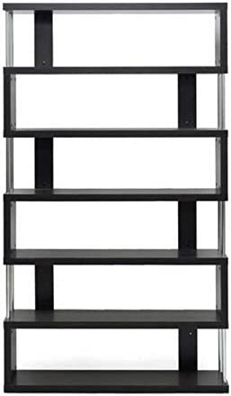 Bowery Hill 6 Shelf Modern Bookcase