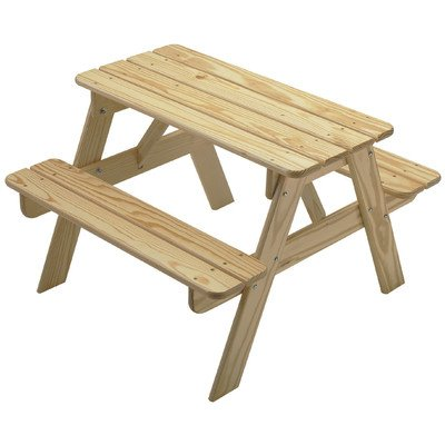 Little Colorado Child's Picnic Table- Unfinished (Colorado Picnic Tables Furniture Outdoor)