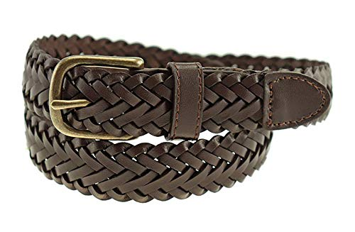 Thomas Bates Dillon Boys Leather Braid (24, (Braid Leather Belt)
