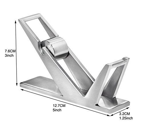ArtsOnDesk Modern Art Tape Dispenser St202 Stainless Steel Satin Finish Patented High-end Desk Accessory Office Organizer Adhesive Transparent Cutter Holder Christmas Fathers Valentines Day Gift by ArtsOnDesk (Image #5)