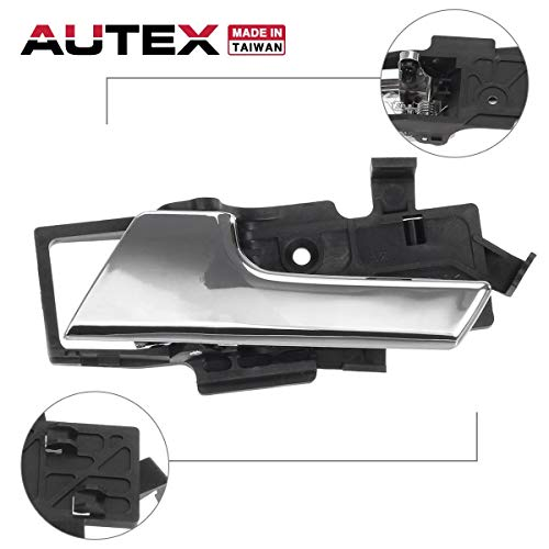 AUTEX Interior Door Handle Front/Rear Left Side Driver Side Compatible with Chevrolet Aveo 2007-2011 Replacement for Chevy Aveo5 09-11,Pontiac G3 2009 81850 96462709 88653