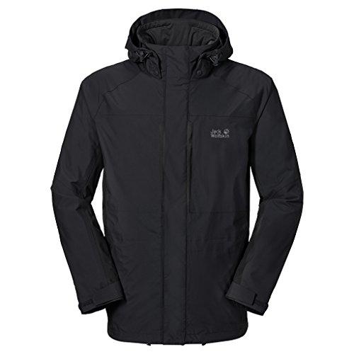 JACK WOLFSKIN Brooks Range Men's Jacket, Black, L