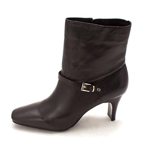 Bandolino Womens Howley Leather Square Toe Ankle Fashion, BLK/BLK/LE, Size (Bandolino Leather Platforms)