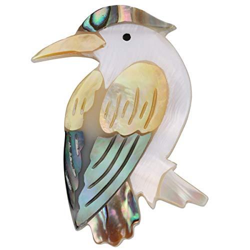 Szxc Paua Abalone Shell Bird Brooch Pin - 2