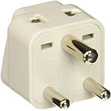 Ckitze BA10-2PK 2 In 1 USA to India Adapter Plug - 2 Pack, Universal (Type D)