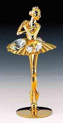 warovski Crystal Free Standing Fig (24k Gold Swarovski Crystal)