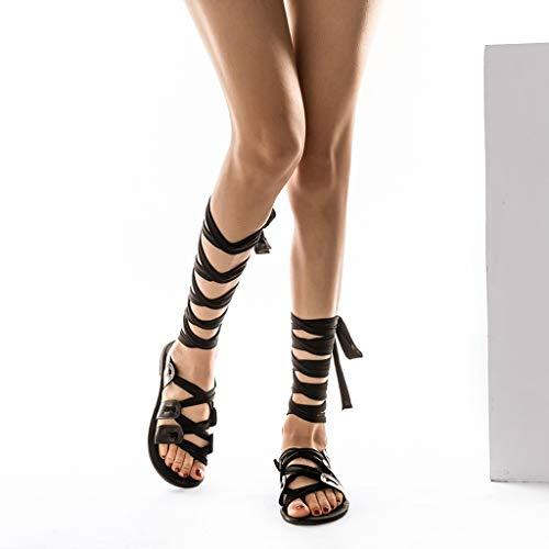 Spartiate Boucle sandales Chaussures Noir Cher Plates Sexy Femme Femme Sangle Ete Sandales Waselia Bottines Romaine Pas Chaussure dqnzwxdUB