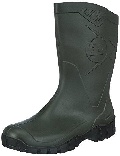 Dunlop Gomma Di Uomo black Stivali Sole Green 7wrqE7B