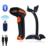 Tera Barcode Scanner Bluetooth Barcode Scanner Wireless Versatile 3-in-1 (1D Bluetooth & 2.4GHz Wireless & USB 2.0 Wired) Scanner Barcode Reader Rechargeable USB Handheld Bar Code Scanner with Stand