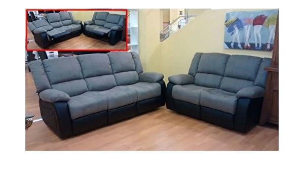 MUEBLES MATO - Sofas 3+2 plazas Eli reclinable: Amazon.es: Hogar