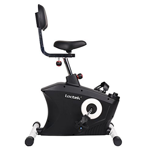 Loctek U2 Fitness Under Desk Magnetic Recumbent Bike with Back Rest