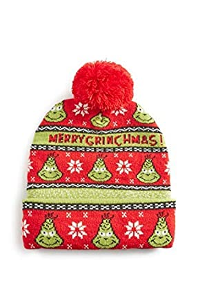 Image Unavailable. Image not available for. Colour  Red Christmas Grinch  Beanie Hat 7be82630ae3