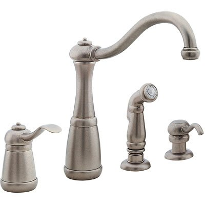Amazon.com: Pfister GT26-4N Marielle Kitchen Faucet with Sidespray ...
