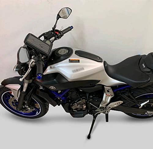MT 01 Motociclo Bar Finisce Grip CNC mano Tappi Manubrio End 2 PZ Per Yamaha MT01 MT03 MT07 MT09 MT10-Argento