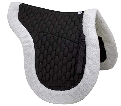 Derby Originals AP Fleece Padded Contour English Saddle Pad, Black