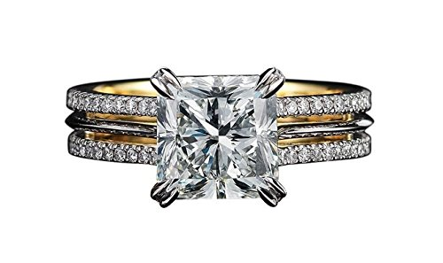 1.75 Ct Emerald Diamond (SOLITAIRE 1.75CT PRINCESS ROUND CUT DIAMOND 14K YELLOW GOLD ENGAGEMENT WEDDING BRIDAL WOMEN RING,ALL US SIZE 4-12 AVAILABLE)