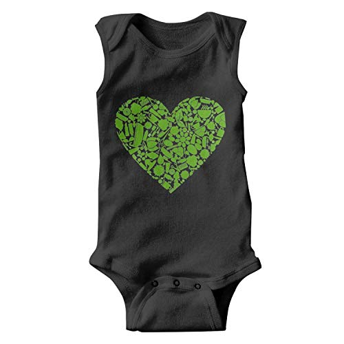 IOxje Tree Leaves Heart Spa Unisex Baby Onesies Boy Funny Baby Clothes
