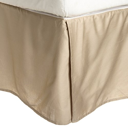 100% Brushed Microfiber Bed Skirt, Queen, Tan, Wrinkle Resis