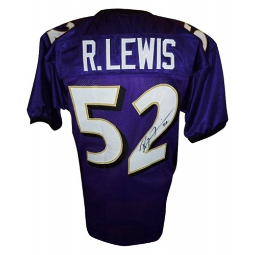 info for 1dc98 d1e14 Amazon.com: Ray Lewis Autographed Baltimore Ravens (Purple ...