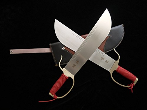 Wing Chun Bart Cham Dao(Stainless steel blade,Leather Scabbard,Copper guard)China kung fu,Wu shu