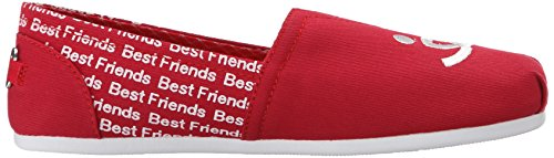 A partir de bobs bobs Skechers para los perros de la felpa Resbalón-en Flat Best Friends Red
