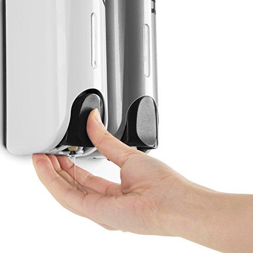 Double Bottle Shower Dispenser - dispense button