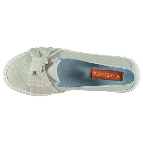 Rocket Dog Mujer Carlita Debs Denim Zapatos Zapatillas Calzado Casual Azul claro Denim 4 (37)