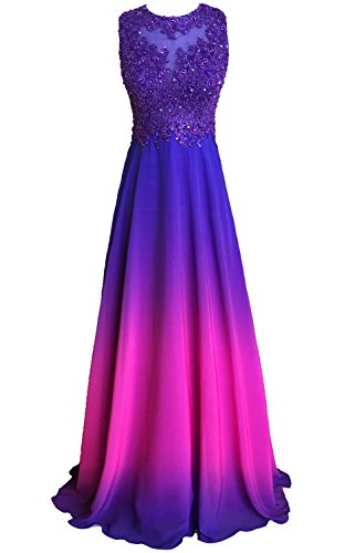 Callmelady Lace Appliqued Prom Dresses 2017 Long Evening Gowns for Women Formal...