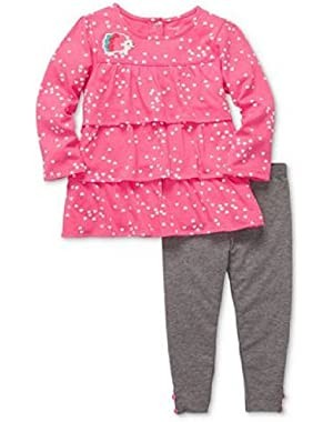 Baby Set, Baby Girls 2-piece Tunic and Leggings (Nb)