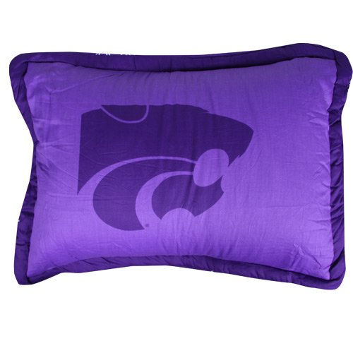 College Covers Kansas State Wildcats Printed Pillow Sham