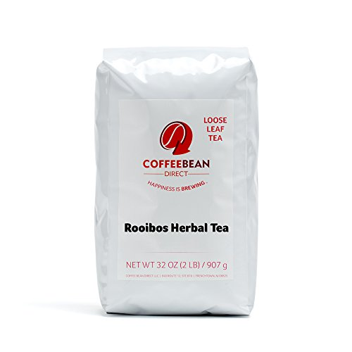 Coffee Bean Direct Rooibos Loose Leaf Tea, 2 Pound Bags (Pack of 2) by Coffee Bean Direct