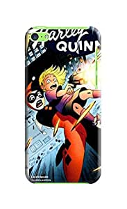 Thin shell tpu case cover skin with sincere for iphone5c(Marvel Comic Harley Quinn) by Shari Flanders