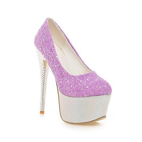 Adee, Scarpe col tacco donna, viola (Purple), 35 EU