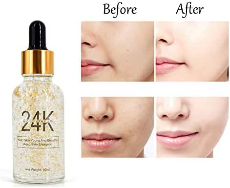 24k Gold Moisturizing Face Serum Whitening Anti Wrinkles Reduce Fine Lines Firming Face Serum 30 ml