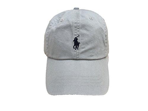 Polo Ralph Lauren Men`s Cotton Chino Baseball Cap (Light Grey (2001)/Navy, One - Brooklyn Store Polo
