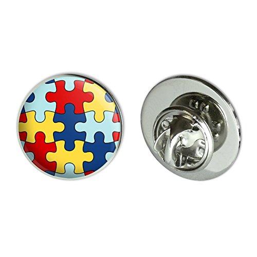 (GRAPHICS & MORE Autism Awareness Diversity Puzzle Pieces Metal 0.75