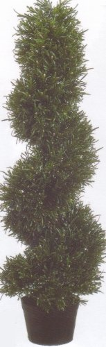 (One 3 Foot Artificial Rosemary Spiral Slim Topiary Tree)