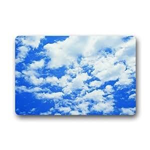 """Custom clouds blue sky Doormat Outdoor Indoor 23.6""""x15.7"""" about 59.9cmx39.8cm"""